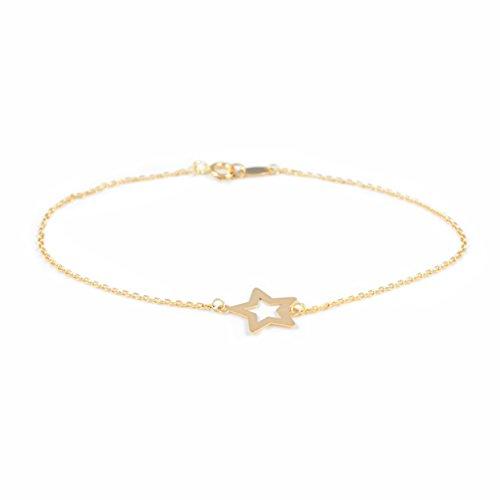 Stern Armband horizontale Gelbgold 18 Karats (750)