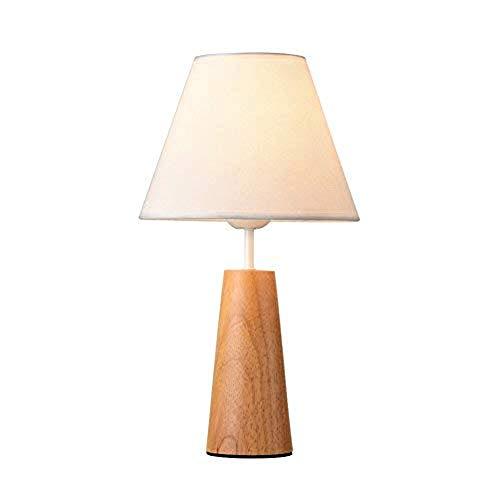Lámpara de Mesa de Iluminación Decorativa Interior Lámpara de mesa - madera lámpara de mesa de noche con lámpara de escritorio de lino tela de la cortina for el dormitorio, Dresser, Sala, niños, 21x40
