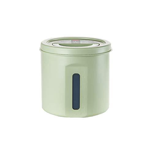 IMDOU 5-10kg Großvolumige Pet Food Storage Container, Katze und Hund Snack-Aufbewahrungsbehälter mit Perspektive Fenstern, mit Deckel und Griff Trockenfutterbehälter (Color : Green, Size : 5kg)