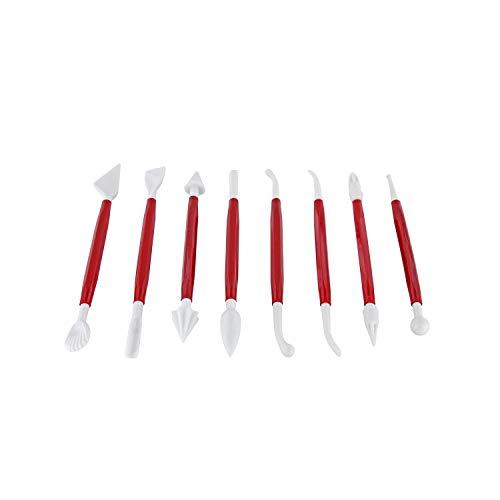 Westmark Modellierset für Marzipan und Fondant, 8-tlg., Kunststoff, Rot/Weiß, 30362280