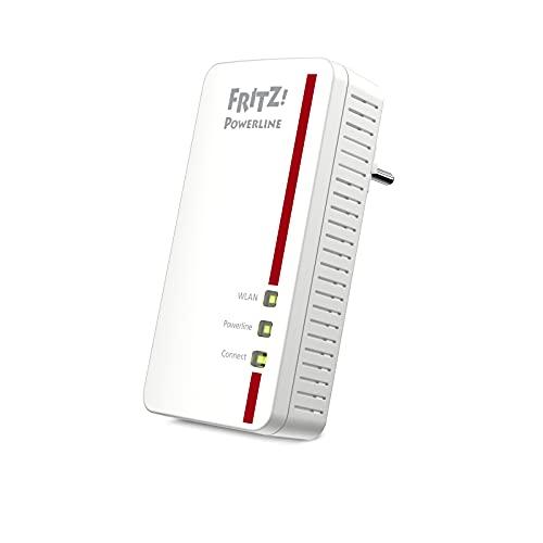 AVM Fritz!Powerline 1260E Single-Adapter, WLAN, international, Erweiterung, PLC, IEEE P1901, 1200 Mbps, integrierte WLAN-AC-Basis, Mesh, 1 Gigabit, Port
