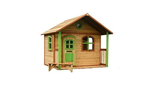 Beauty.Scouts Holzspielhaus mit Veranda Ulli 173x180x180cm aus Holz in braun Kinder Spielhaus Kinderspielhaus Gartenhaus mit Fenster Tür Holzhaus großes Haus