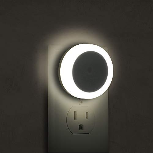 4 Pack Night Light Plug in, Briignite LED Night Light for Kids, Light Sensor Night Lights, Smart Night Light, Hallway Lights, Wall Light, nightlight for Adult, Daylight White 5000K, 0.6W 60LM