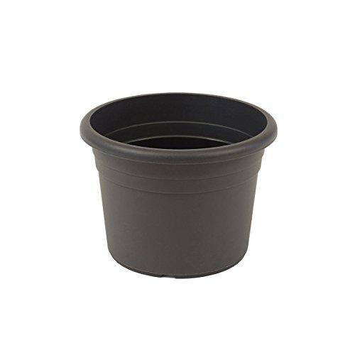 fioriera greemotion Fiona, fioriera in plastica resistente ai raggi UV, fioriera con fori inferiori, volume 32 L, circa Ø 45 x H 31,6 cm