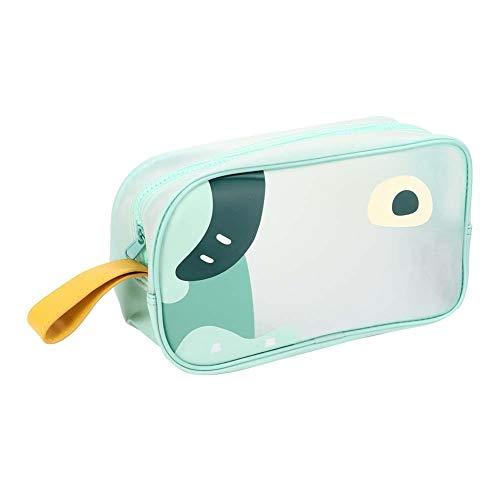 Poignée Cartoon Cosmetic Bag 26 x 15 x 10cm Portable Étanche Maquillage Trousse De Toilette Organisateur pour Voyager Salle De Bains