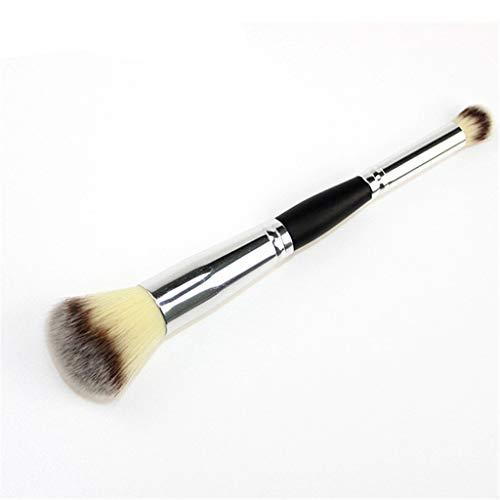 1 Pièces vie quotidienne Cosmetic deux en un Outils poignée pinceaux de maquillage pour les enfants femmes Grand Sleek pas cher Big ovale,Jaune