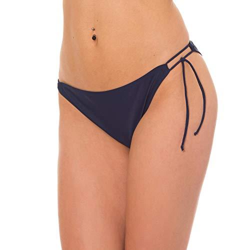 Aquarti Damen Bikinihose Seitlich Gebunden, Farbe: Dunkelblau, Größe: 36