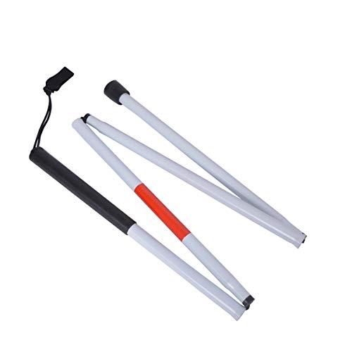 Airsun - Bastón Plegable Reflectante para Personas con Problemas de visión y ciegas, Color Rojo