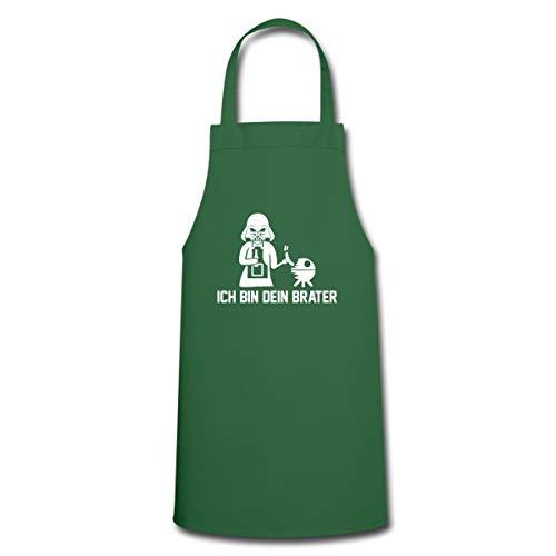 Spreadshirt Ich Bin Dein Brater BBQ Grillen Kochschürze, Grün