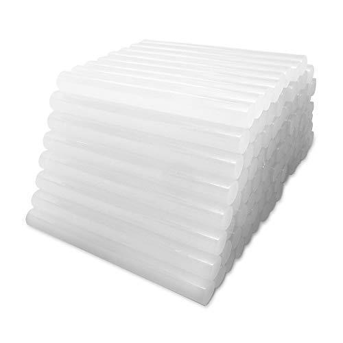 Barras de Pegamento Termofusible Amdai (Paquete de 100 Unidades) - Ultra Transparente – 11 mm x 100 mm