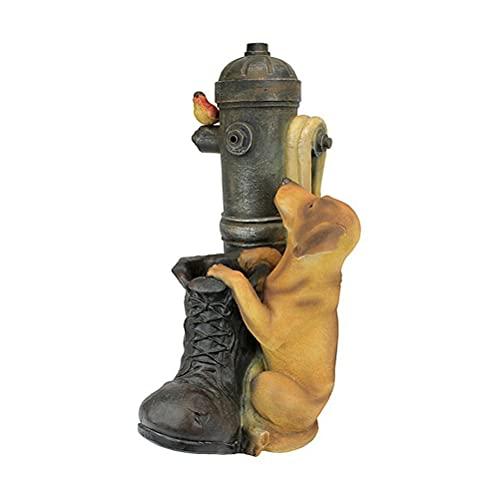 TangYang Resina Acqua Che scorre Ornamento Fontana a Botte Fontana a Botte Fontana a Botte Fontana a circolazione d'Acqua per Giardino Cortile Decorazione del Prato Fragranza per la casa