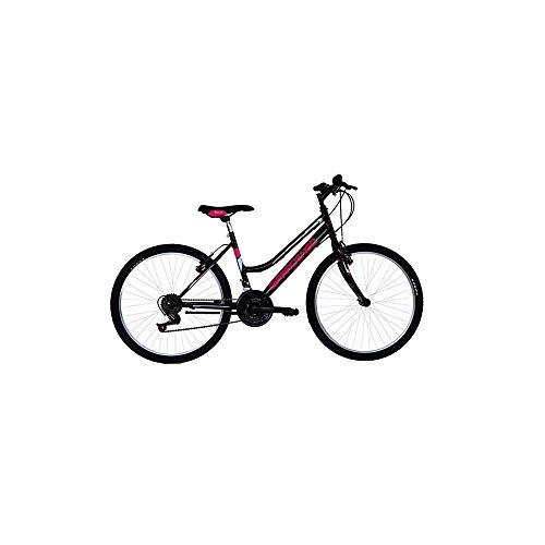 Masciaghi Bicicletta Mountain Bike Ruota 24 per Ragazza Nera