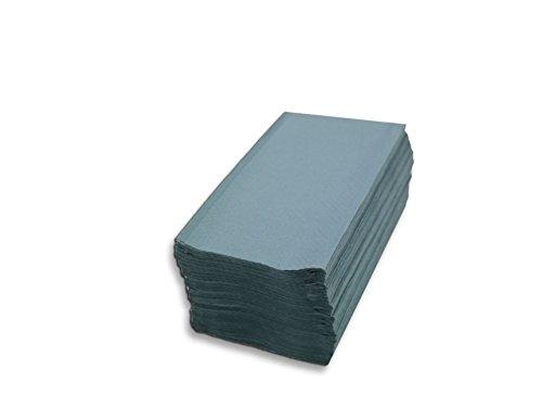 Saten Toalla de Papel de Mano, Celulosa Reciclada, plegada en V, 21x20, gofrada, 1 Capa, Azul, 20...