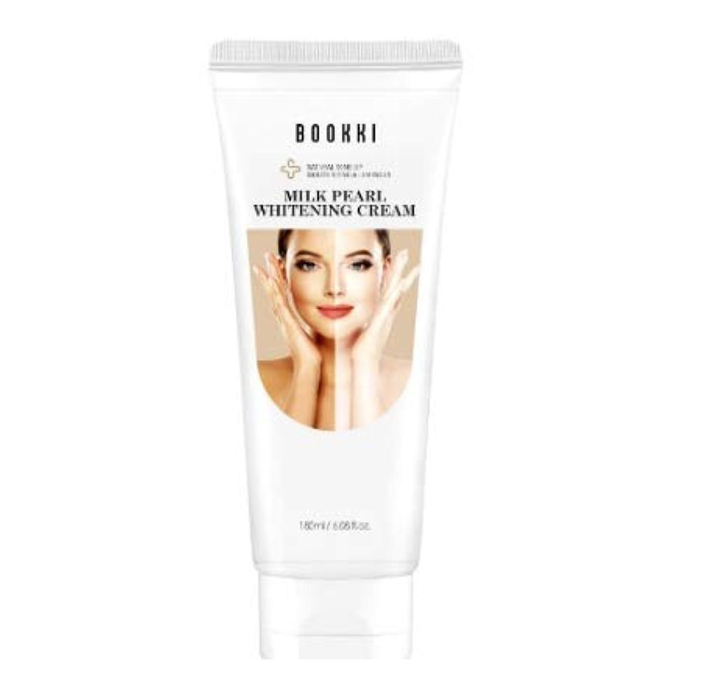パッチ増加する大統領ミルク·パール·ホワイトニング·クリーム (180ml) 美白 美顔 美容 ホワイトニング