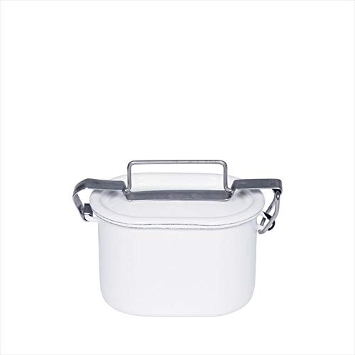 Riess 0321-033 Classic Food Pot oval, Durchmesser 12 cm, weiß