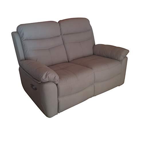 R R Design Sofá de 2 plazas Relax Motor eléctrico reclinable motorizado...