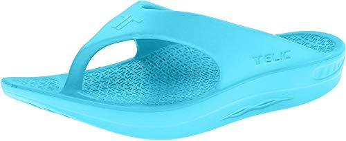 Telic Energy Flip Flop - Comfort Sandals for Men and Women   XS (Women's 7) Aqua