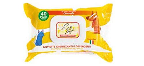 Leopet Lot de 40 lingettes désinfectantes et nettoyantes pour chiens et chats au parfum de citronnelle