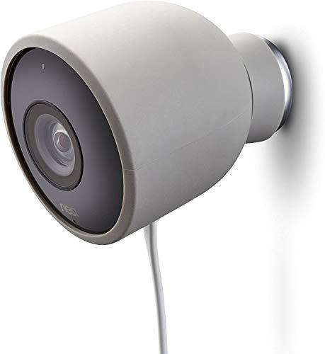 Fundas de Silicona de Color para cámara de Seguridad de Exterior Nest CAM – Protege y camufla, Fundas de Silicona Resistentes a Rayos UV e Impermeables de Wesserstein (1 Pack, Gris)