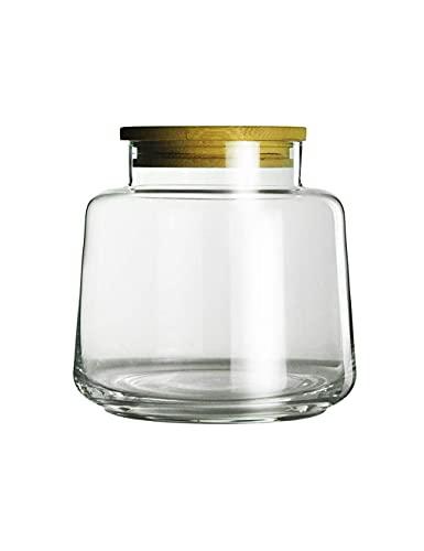 Frasco selado de vidro Retro Simples Sem chumbo Tanque de armazenamento de vidro Tanque selado doméstico Cozinha Diversos grãos Chá Tanque de armazenamento Tanque de plástico de armazenament