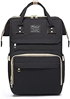 Nappy Bag   Diaper Bag Multi-Function Stylish Backpack with Baby Change Mat Black