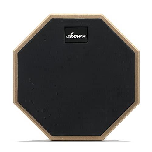 """Asmuse Drum Practice Pad 8"""" Pad para Práctica Almohadilla de Aprendizaje de Batería Transporte para Entrenamiento-Gris"""