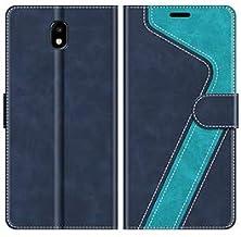 MOBESV Funda para Samsung Galaxy J7 2017, Funda Libro Samsung J7 2017, Funda Móvil Samsung Galaxy J7 2017 Magnético Carcasa para Samsung Galaxy J7 2017 Funda con Tapa, Azul