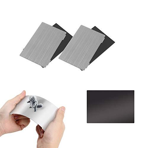 2 Pcs Aggiornamento Piattaforma di Stampante 3D, 135X80mm Piastra in Acciaio Flessibile e Adesivo Base Magnetica per ANYCUBIC Photon/Photon S/Photon Mono SE/Qidi Shadow 5.5S SLA Stampante 3D
