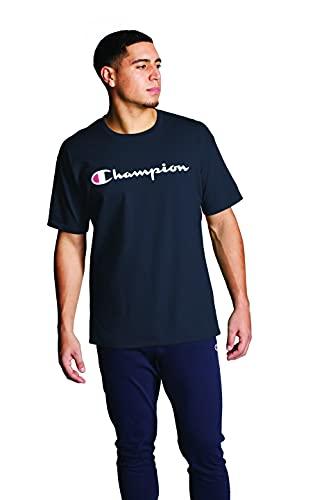 Champion Herren Classic Jersey Graphic T-Shirt, Navy-y06794, Mittel