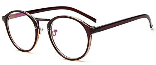 Boner Optisch Helder Brilmontuur Dames Vintage Ronde Brillen RetroCirkel Helder Lens Transparante Glazen, thee