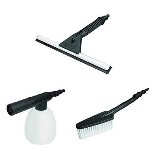 WORX Brush, Soap Dispenser, and Squeegee WA4070 Hydroshot Household Cleaning Kit, Black