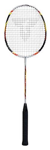 Talbot Torro Badmintonschläger Combat 5.6, Isometrischer Kopf, Powerwaves, Airflex, Farbe: Schwarz-Gelb-Rot, 429804