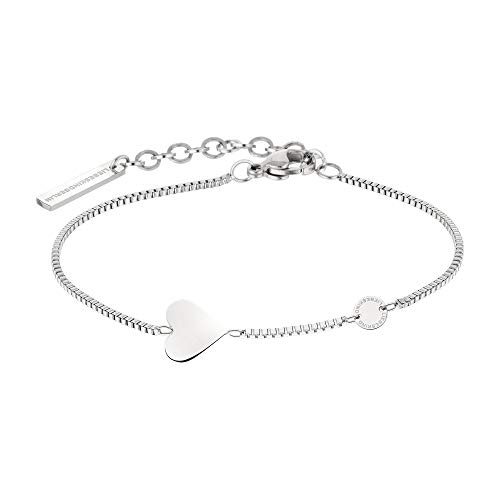 Liebeskind LJ-0509-B-20 Damen Armband Herz Edelstahl Silber 20 cm