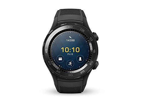 HUAWEI Watch 2 Smartwatch, 4 GB ROM, Android Wear, Bluetooth, Wifi, Monitoraggio della Frequenza Cardiaca, Nero (Carbon...