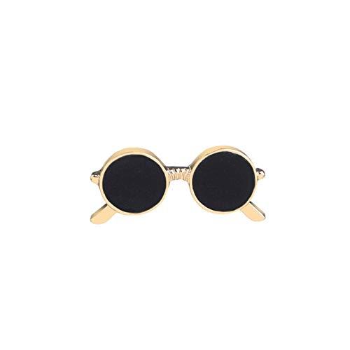Gafas De Sol Broches Para Parejas Trinkets Unisex Traje Camisa De Dibujos Animados Gota Aceite Gafas Creativas Regalo-Oro, China