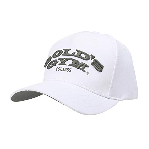 Golds Gym Gold's Gym Gghat096 Embroidered Text Curved Peak Cap, Black, One...
