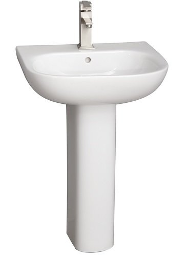 Barclay Products 3-2021WH Tonique 450 Pedestal Lavatory with 1-Hole, White