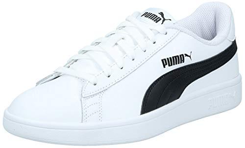 PUMA Smash v2 L, Scarpe da Ginnastica Unisex-Adulto, Bianco White Black, 40 EU