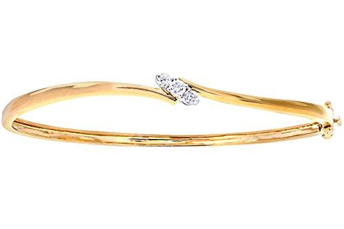 Naava Damen-Armreif 375 Gelbgold Diamant 0,25 ct weiß Rundschliff PBC02030Y