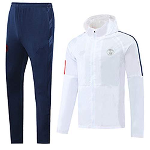 2019 Sǎint-Gěrmǎǐn Camiseta para Hombre Fútbol Cortavientos Traje Casual Sportswear Fan Sudadera Camiseta de Manga Larga Capucha Top Pantalones, S