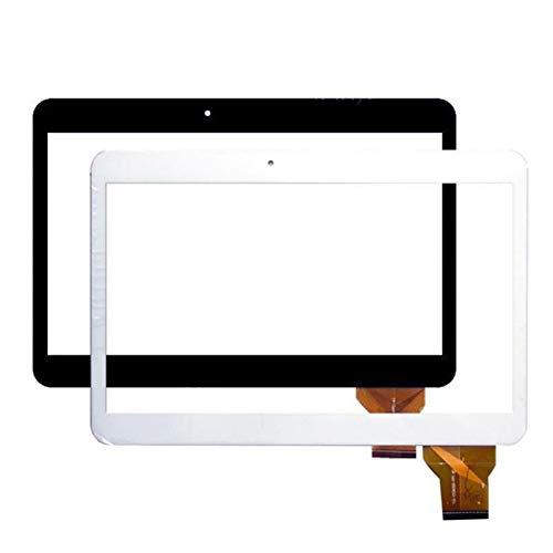 Kit de repuesto de pantalla de 10,1 pulgadas, compatible con Samsung Tablet N9106 YLD-CEGA350-FPC-A1, digitalizador de pantalla táctil, sensor de cristal de repuesto de piezas (color: blanco)