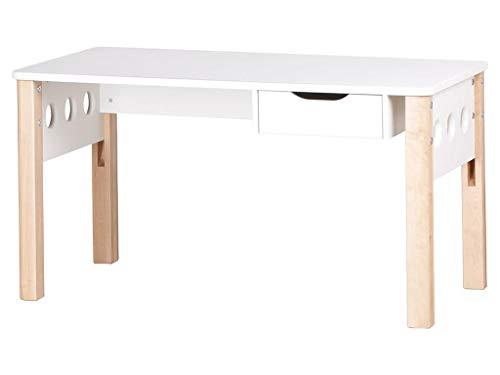 FLEXA White Höhenverstellbarer Schreibtisch Weiß - Birke 82-50081-95