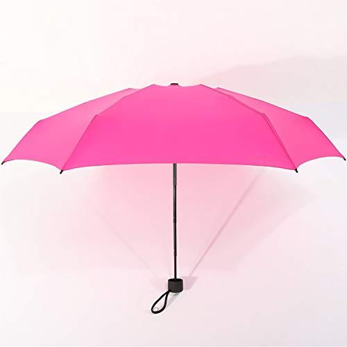 NFHBBAA Parapluie Pliant Pluie Dames Hommes Parapluie De Poche Fille Protection UV Imperméable Parapluie Portable Sac À Dos