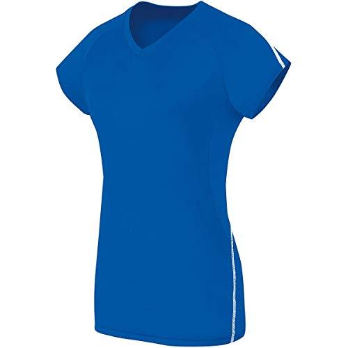 High Five Sportswear Mädchen High Five Girls Short Sleeve Solid Jersey Hemd, ROYAL Weiß, Groß