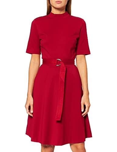 HUGO Darfia Vestido Formal, Dark Red601, XXL para Mujer