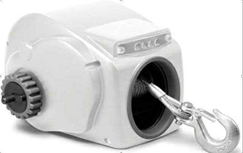 TRW35SW 10000LBS 12V Electric Heavy-Duty Trailer Winch for 24ft Boat Saltwater White