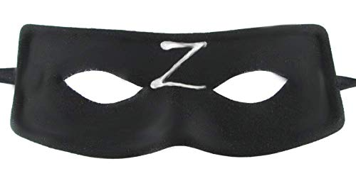 Lovelegis Zorro Kostüm Maske - Zeta - Z - maskierter Ritter - Verkleidung - Karneval - Halloween - Schwertkämpfer - Erwachsene - Mann - Junge - Schwarze Farbe