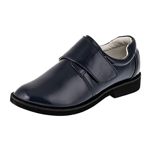 Giardino doro Edle Festliche Moderne Innen Leder Kinder Jungen Anzug Schuhe Klettverschluss M523bl Dunkel Blau 27 EU