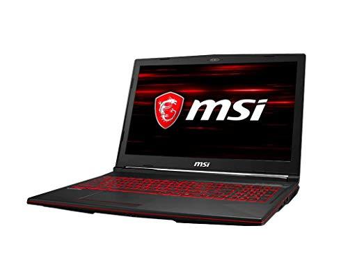 "Msi gl63 8sd-269es - Ordenador portátil de 15.6"" fhd (Intel coffeelake i7-8750h + hm370, 16 GB ram, 512 GB sdd, nvidia geforce GTX 1660ti, sin Sistema operativo) - Teclado QWERTY español."