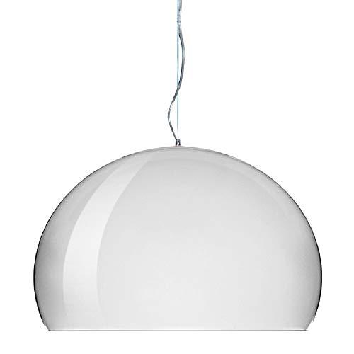 Kartell FL/Y, Suspension Lamp, Weiß Undurchsichtig Glänzend